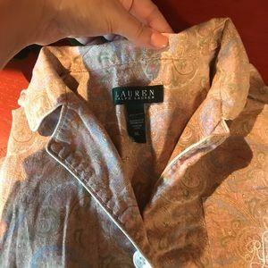 Ralph Lauren XL paisley, light weight Pajamas